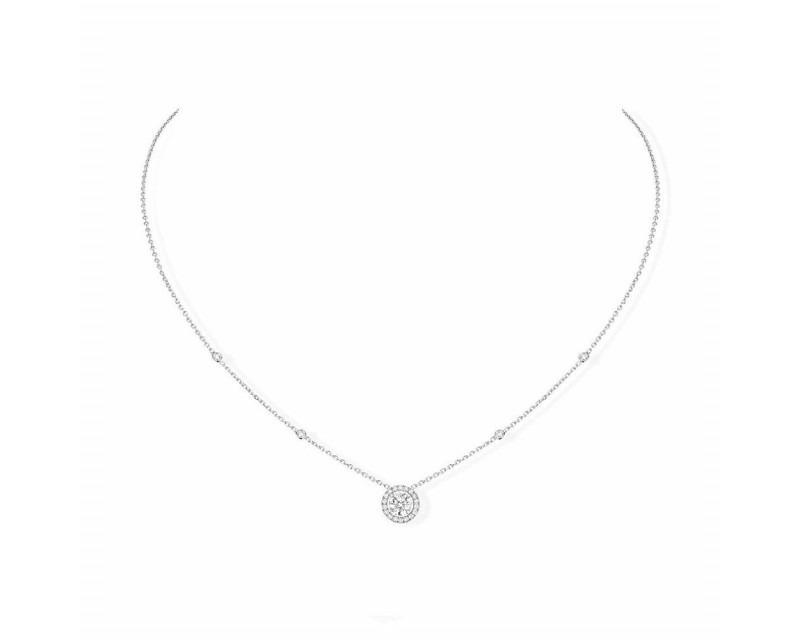 MESSIKA Collier Joy or gris diamants 0,45ct entourage diamants