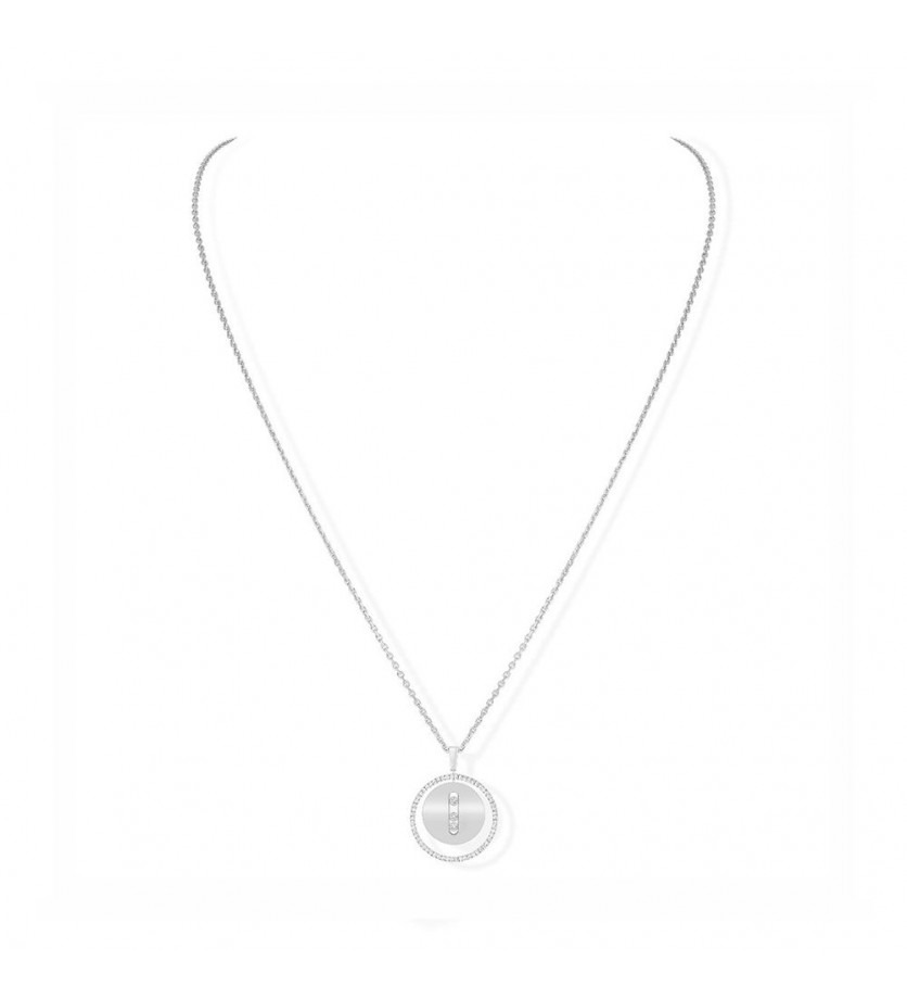 Collier Lucky Move MM or blanc diamants