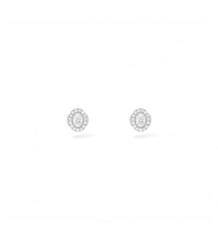 Boucles d'oreilles puces Glam' Azone diamants ovales