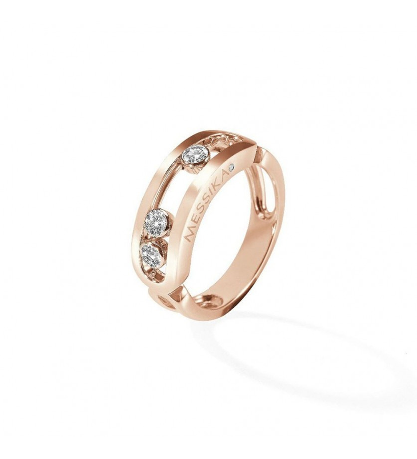 MESSIKA Bague Move or rose 3 diamants