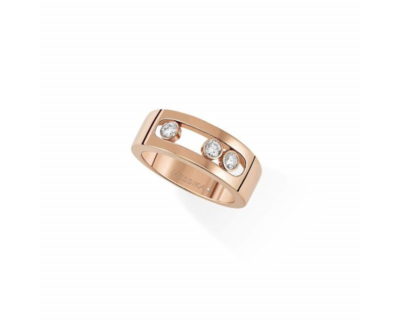 Bague Move Joaillerie PM or rose diamants