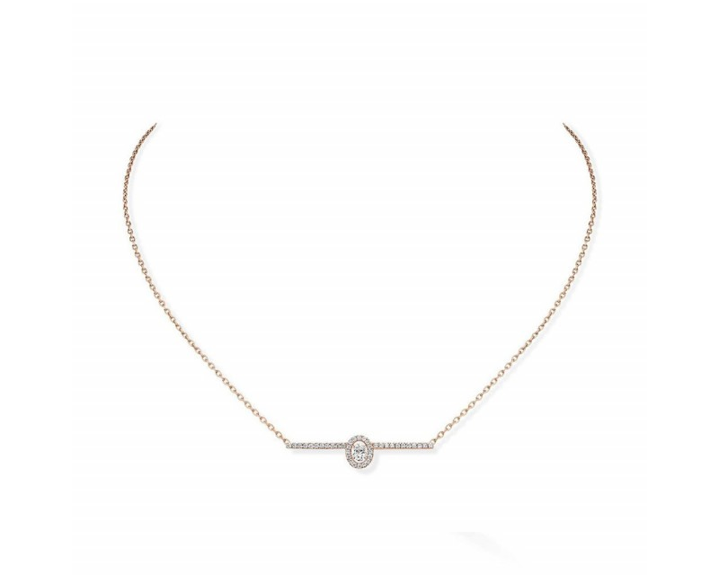MESSIKA Collier Glam' Amazone or rose sur chaine pavé diamants