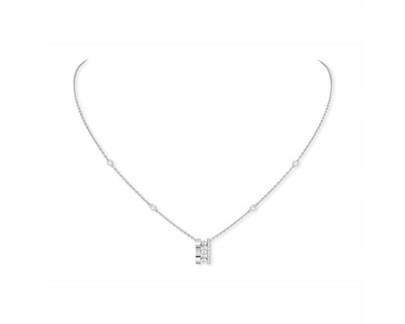 MESSIKA Collier pendentif sur chaîne Move Romane or gris diamants