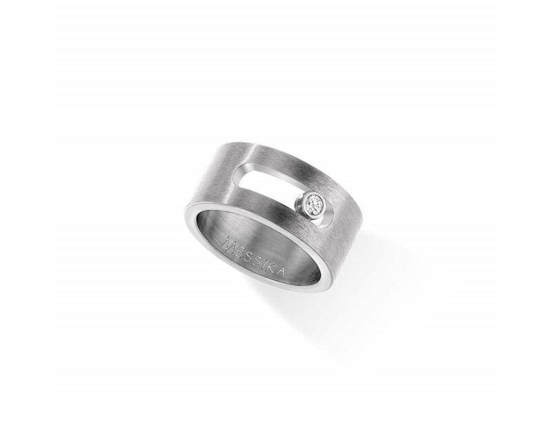 MESSIKA Bague Move Titanium diamant blanc