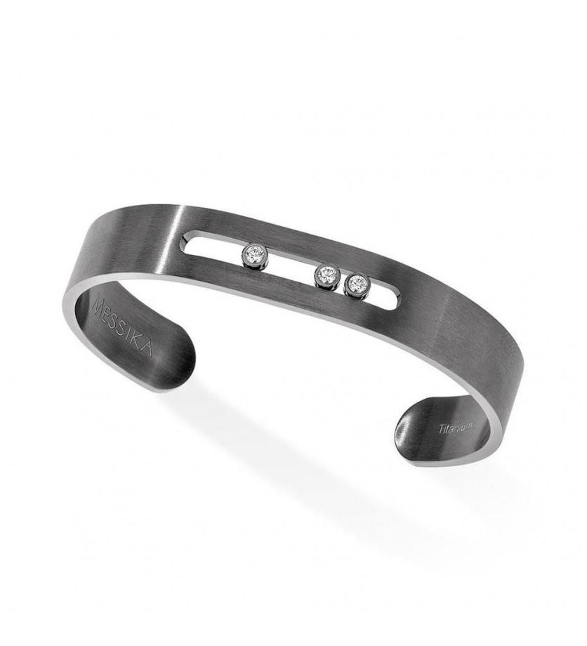 MESSIKA Bracelet Move Titanium graphite titane et diamants