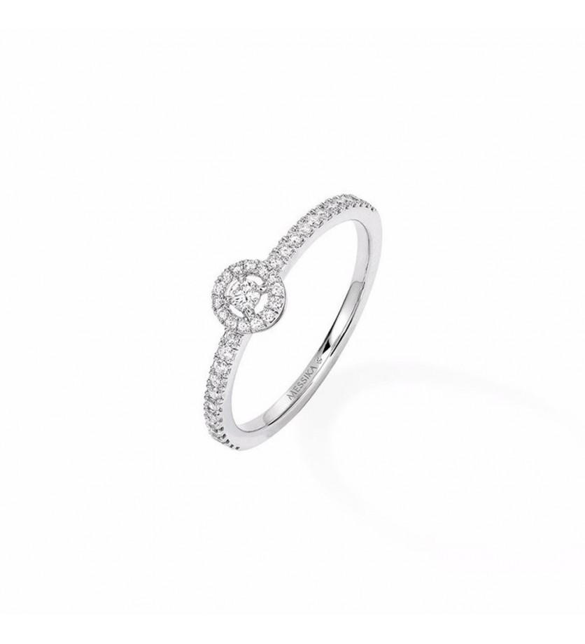 MESSIKA Solitaire Joy XS diamant or gris pavée diamants