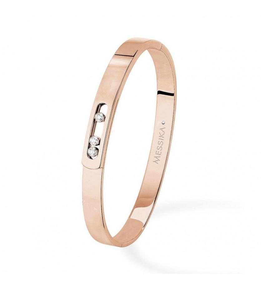 MESSIKA Bracelet Bangle Move Noa or rose diamants taille M