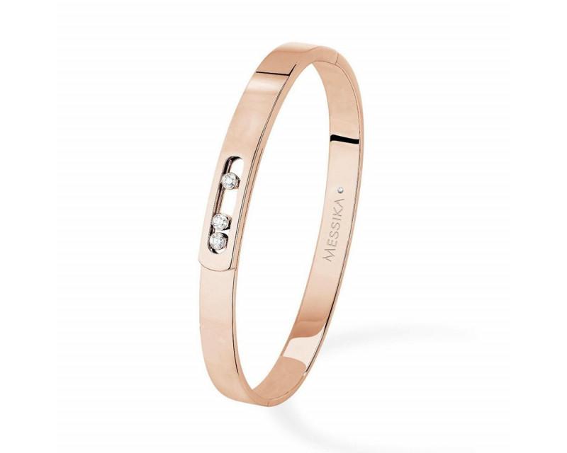Bracelet Bangle Move Noa or rose diamants taille M