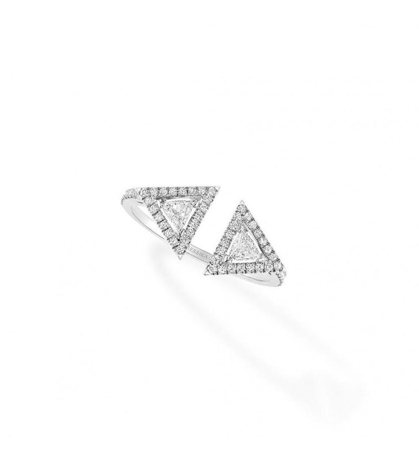 MESSIKA Bague Théa or gris et diamants