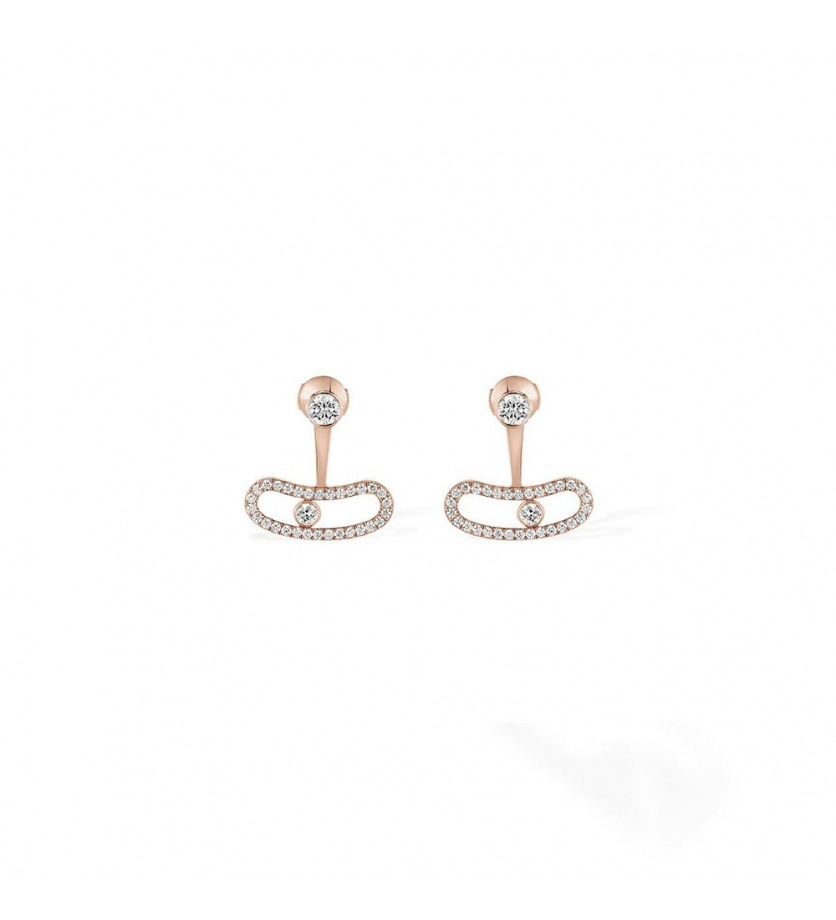 MESSIKA Boucles d'oreille Move Uno or rose diamants