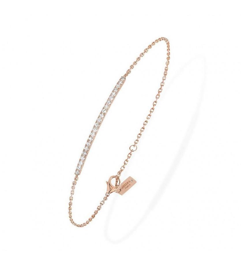 Bracelet Gatsby or rose diamants