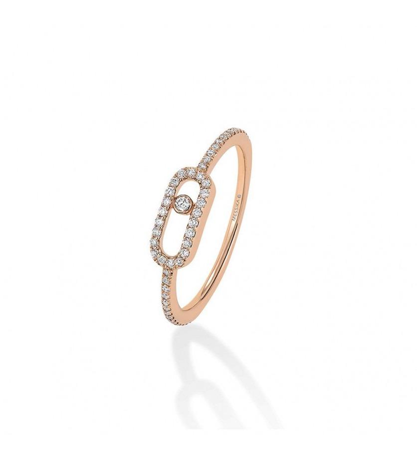 MESSIKA Bague Uno Pavée or rose diamants