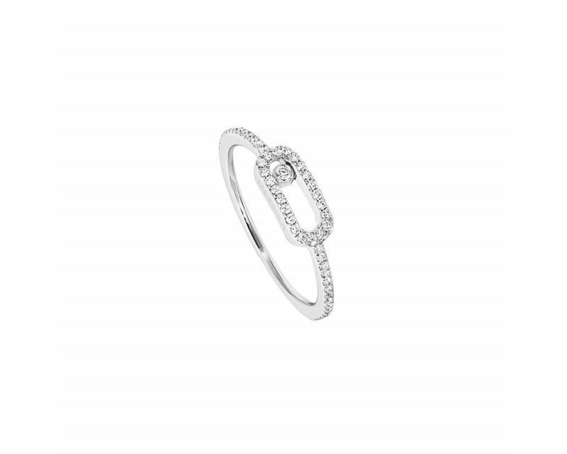 MESSIKA Bague Move Uno or gris pavé diamants
