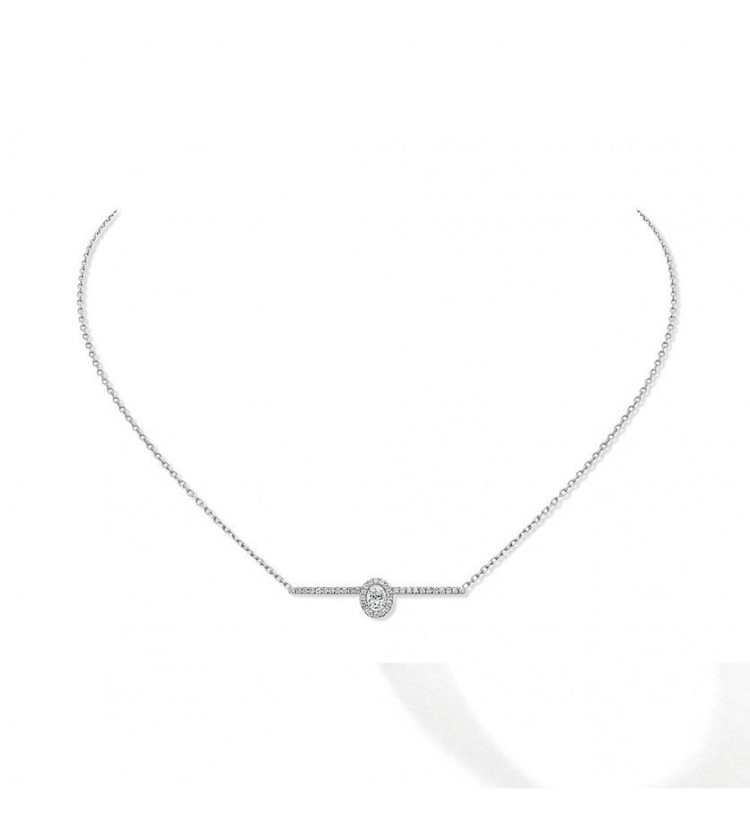 Collier Amazone or blanc diamants