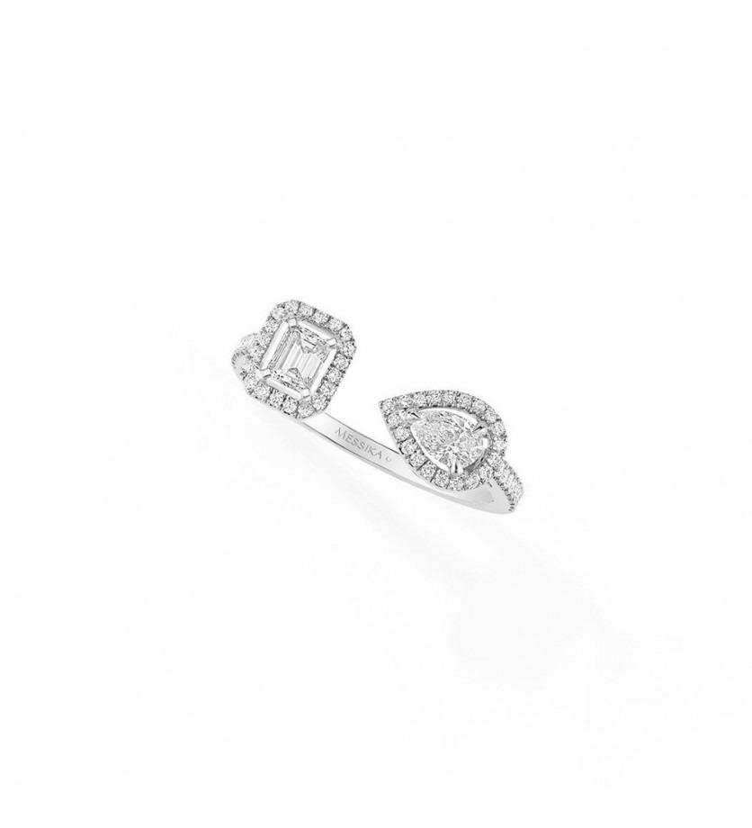 MESSIKA Bague My Twin Toi & Moi PM or gris et diamants