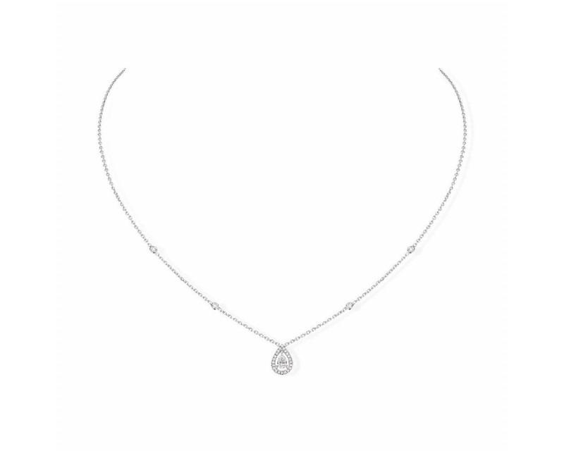 MESSIKA Collier Joy or gris diamant poire diamants
