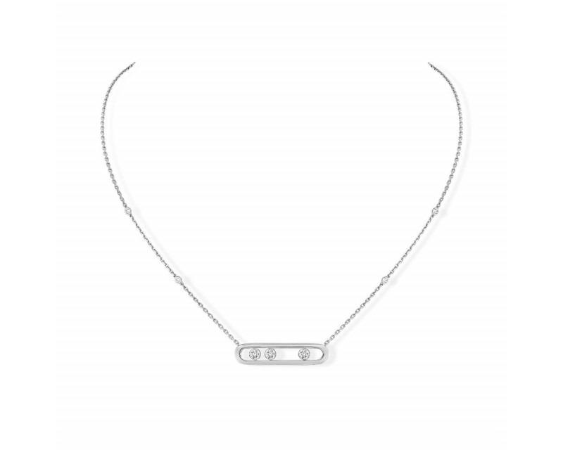 Collier Move or gris diamants sur chaîne