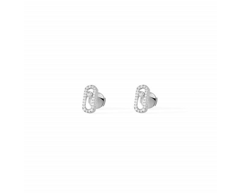 MESSIKA Boucles d'oreilles puces Move Uno or gris diamants
