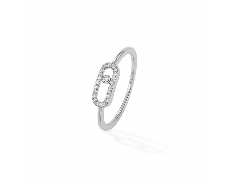 MESSIKA Bague Move Uno or gris diamants