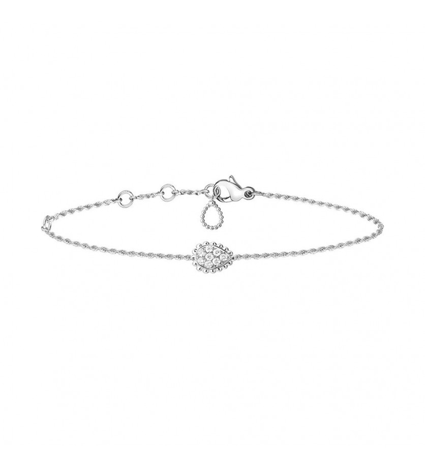 BOUCHERON Bracelet chaine Serpent Boheme XS or blanc diamants 0.14ct