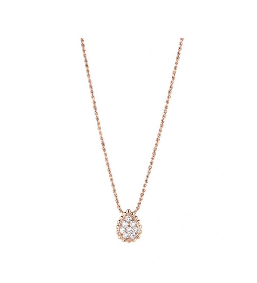 Boucheron pendentif Serpent Bohème motif XS or rose et diamants