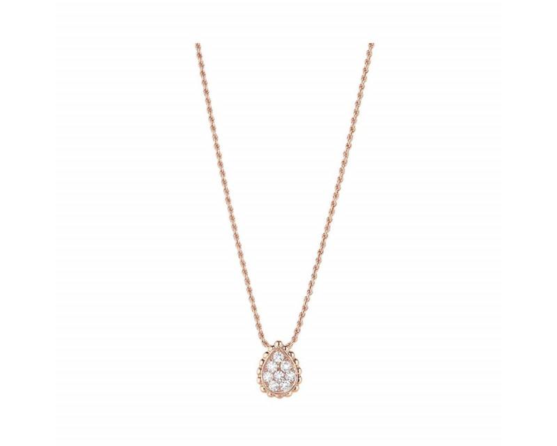 BOUCHERON Pendentif Serpent Bohème XS or rose diamants