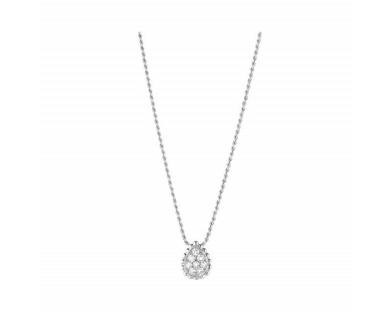 BOUCHERON Pendetif Serpent Boheme XS or gris diamants 0.13ct