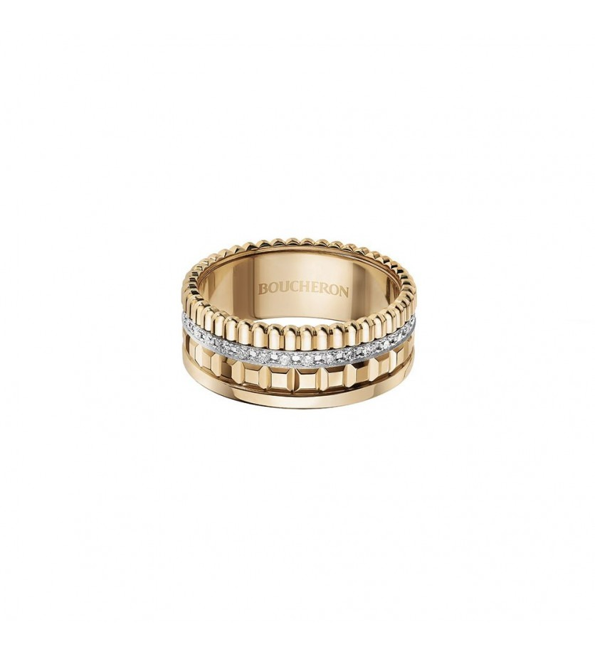BOUCHERON Bague Quatre Radiant Edition PM or jaune diamants