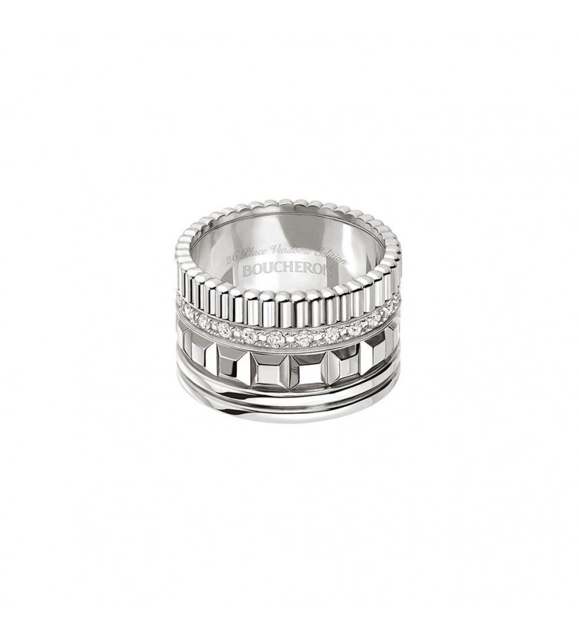 Boucheron Bague Quatre Radiant Edition Large Or Blanc