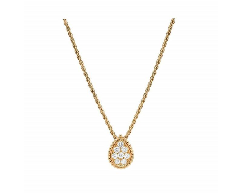 Pendentif Serpent Bohème or jaune pavé diamants