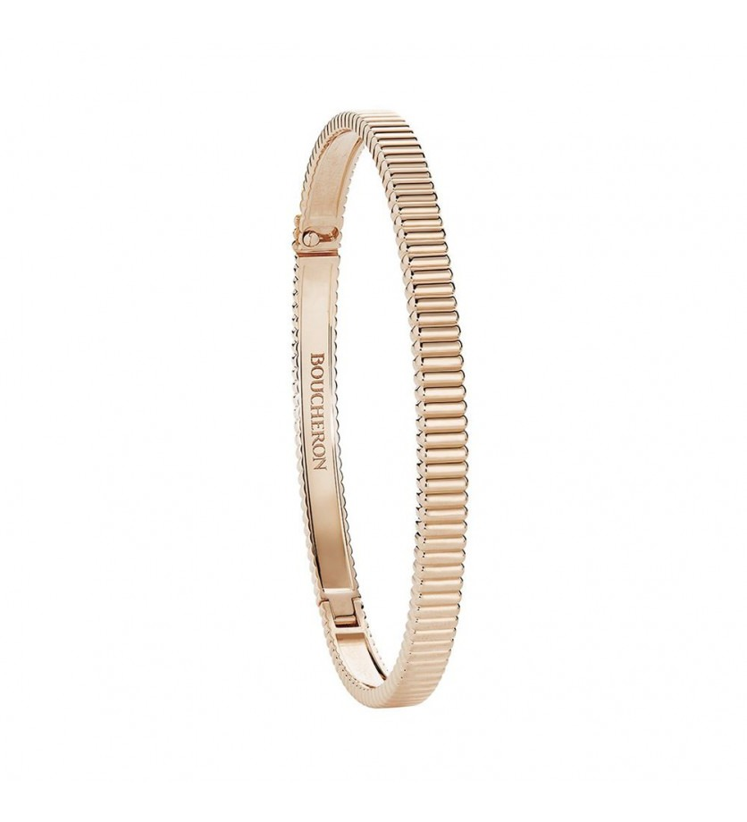 BOUCHERON Bracelet Quatre Grosgrain or rose