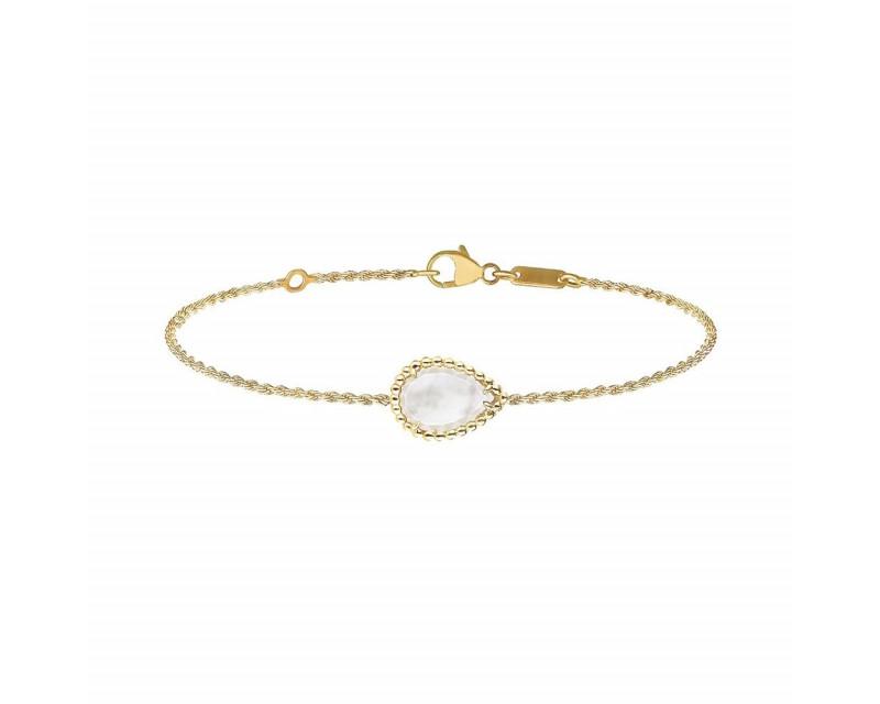 BOUCHERON Bracelet Serpent Bohème nacre blanche or jaune