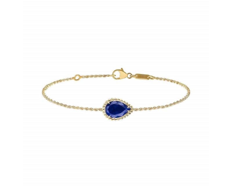 Bracelet Serpent Boheme lapis lazuli or jaune