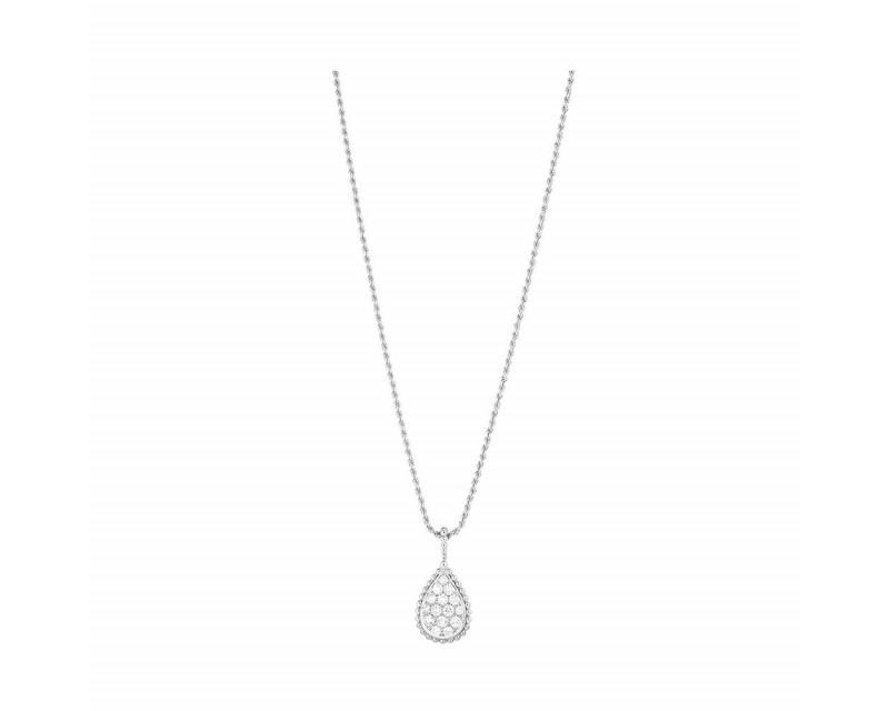 BOUCHERON Pendentif Serpent Bohème MM or blanc diamants sur chaine