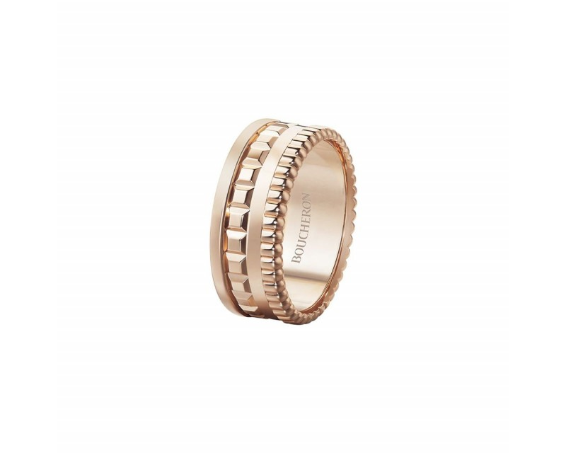BOUCHERON Bague Quatre Radiant Edition S or rose