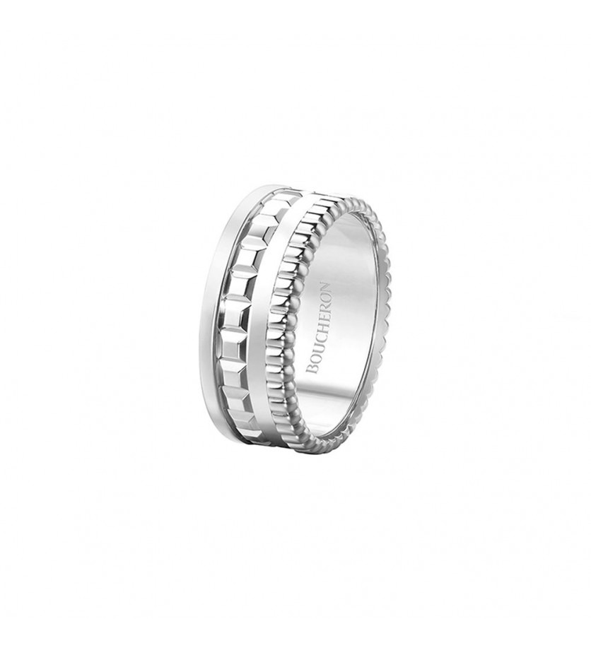 BOUCHERON Bague Quatre Radiant Edition S or blanc