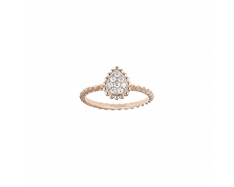 Bague Serpent Bohème or rose pavée diamants