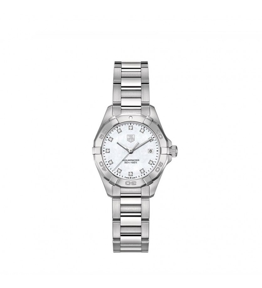 Montre Aquaracer Quartz Acier et diamants