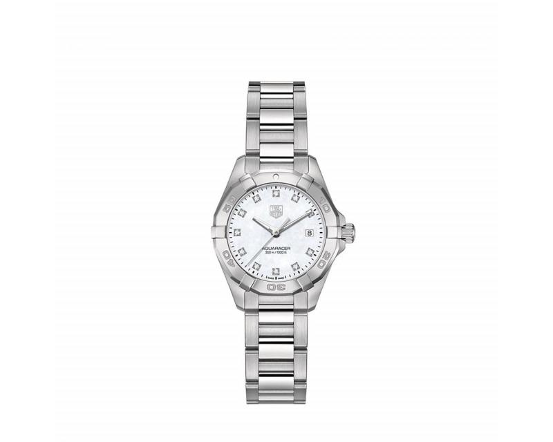 Montre Aquaracer Quartz Acier et diamants