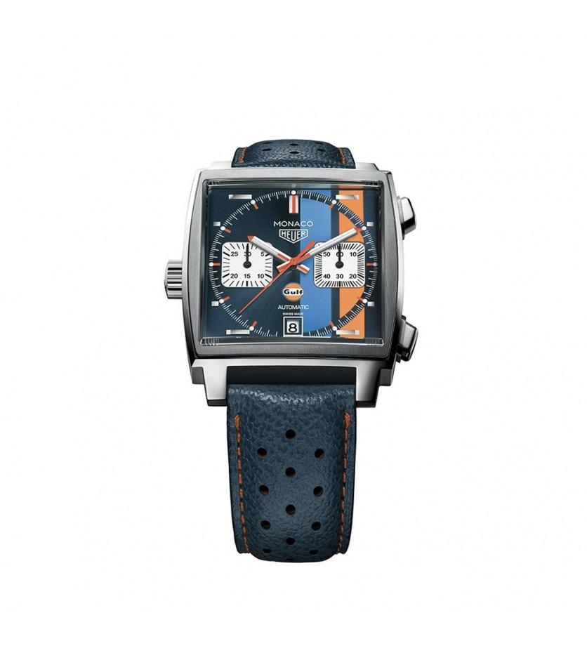 TAG HEUER Montre Monaco Gulf Chronographe Automatique Acier