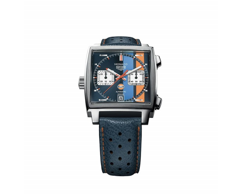 Montre Monaco Gulf Chronographe Automatique Acier