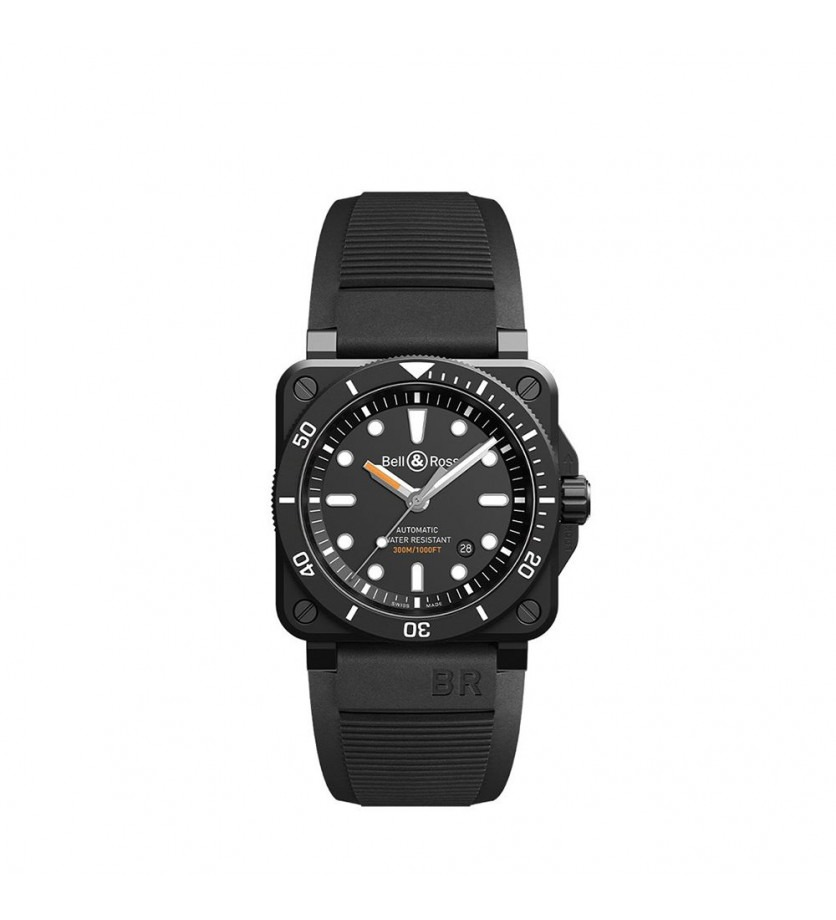 Montre BELL & ROSS BR0392 Diver Black Matte