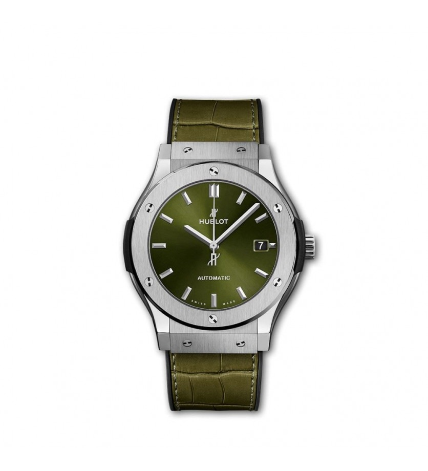 Montre HUBLOT Classic Fusion Titanium Green 45 mm