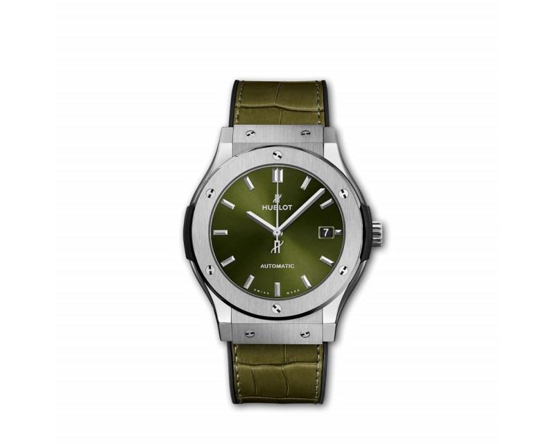 Montre HUBLOT Classic Fusion Titanium Green 45 mm