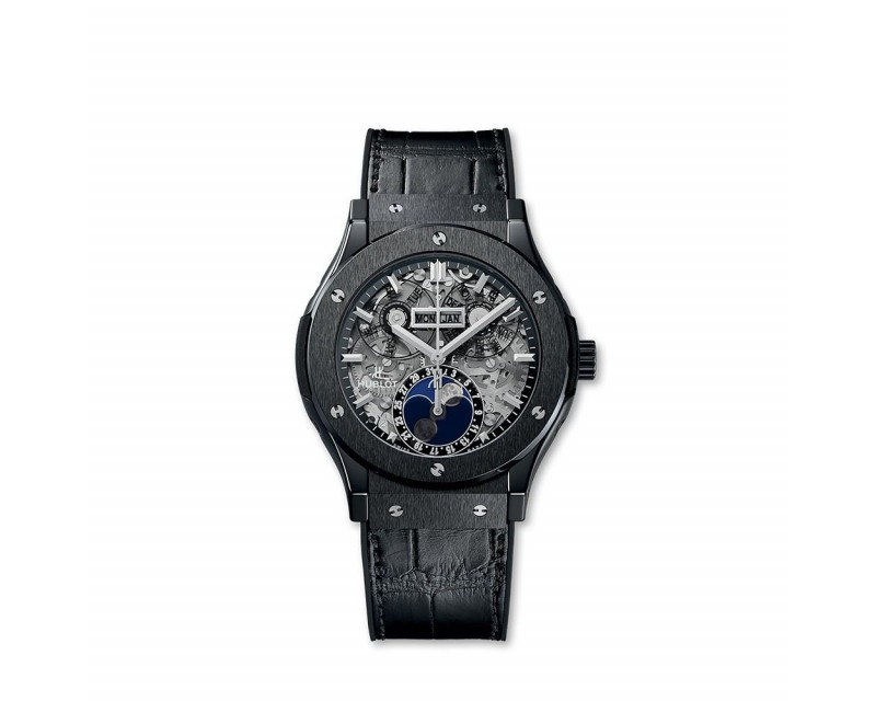 Montre HUBLOT Classic Fusion Aerofusion Moonphase Black Magic 45 mm
