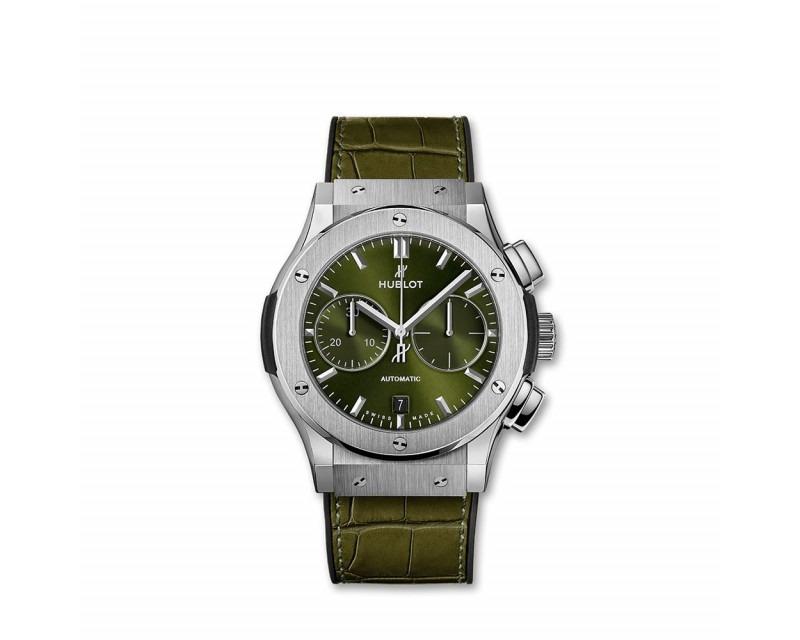 Montre HUBLOT Classic Fusion Chronograph Titanium Green 45 mm