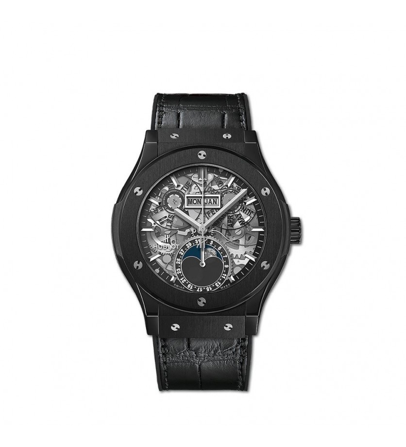 Montre HUBLOT Classic Fusion Aerofusion Moonphase Black Magic 42 mm