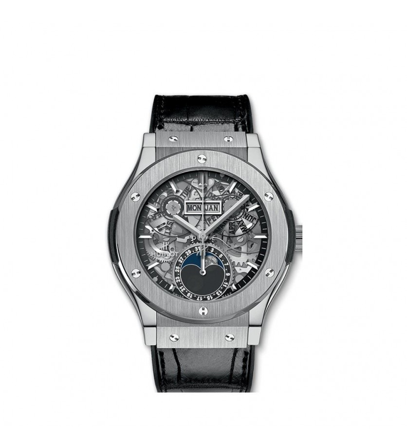 Montre HUBLOT Classic Fusion Aerofusion Moonphase Titaniumc 42 mm