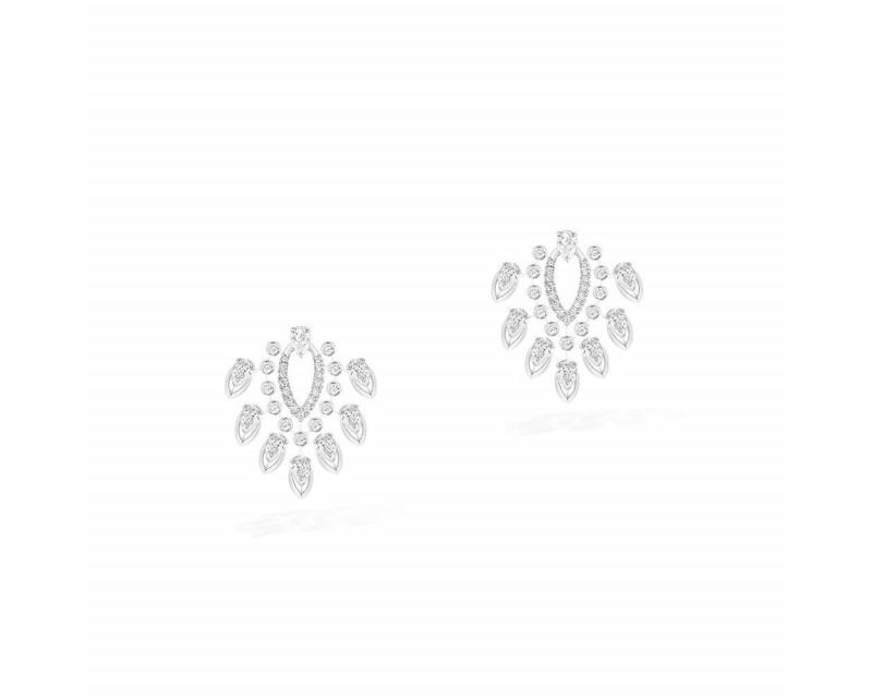 MESSIKA Boucles d'oreilles Desert Bloom or blanc diamants taille poire et diamants taille brillant