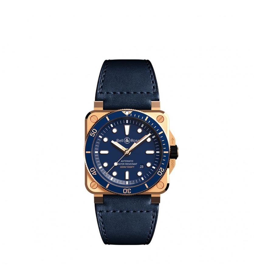Montre BELL & ROSS BR0392 Diver Blue Bronze édition limitée